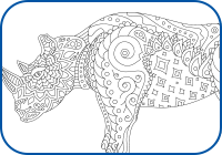 Rhino Coloring Page Preview